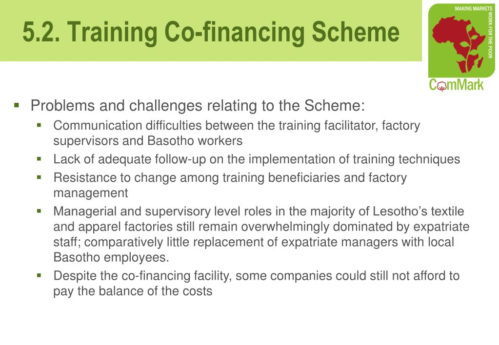 Problems and challenges relating to the Scheme: