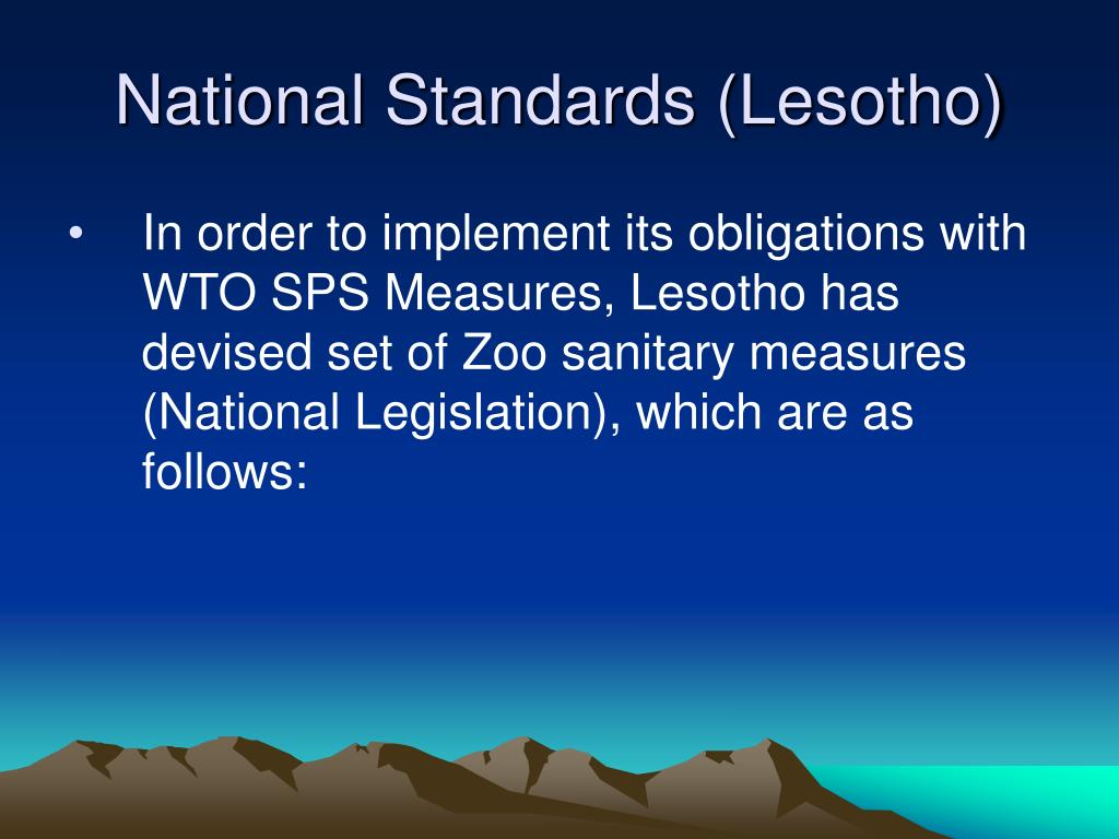 National Standards (Lesotho)
