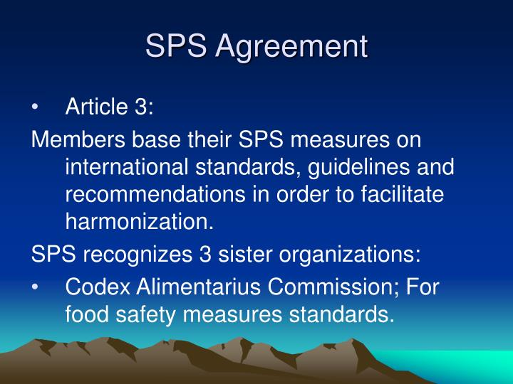 Sps agreement