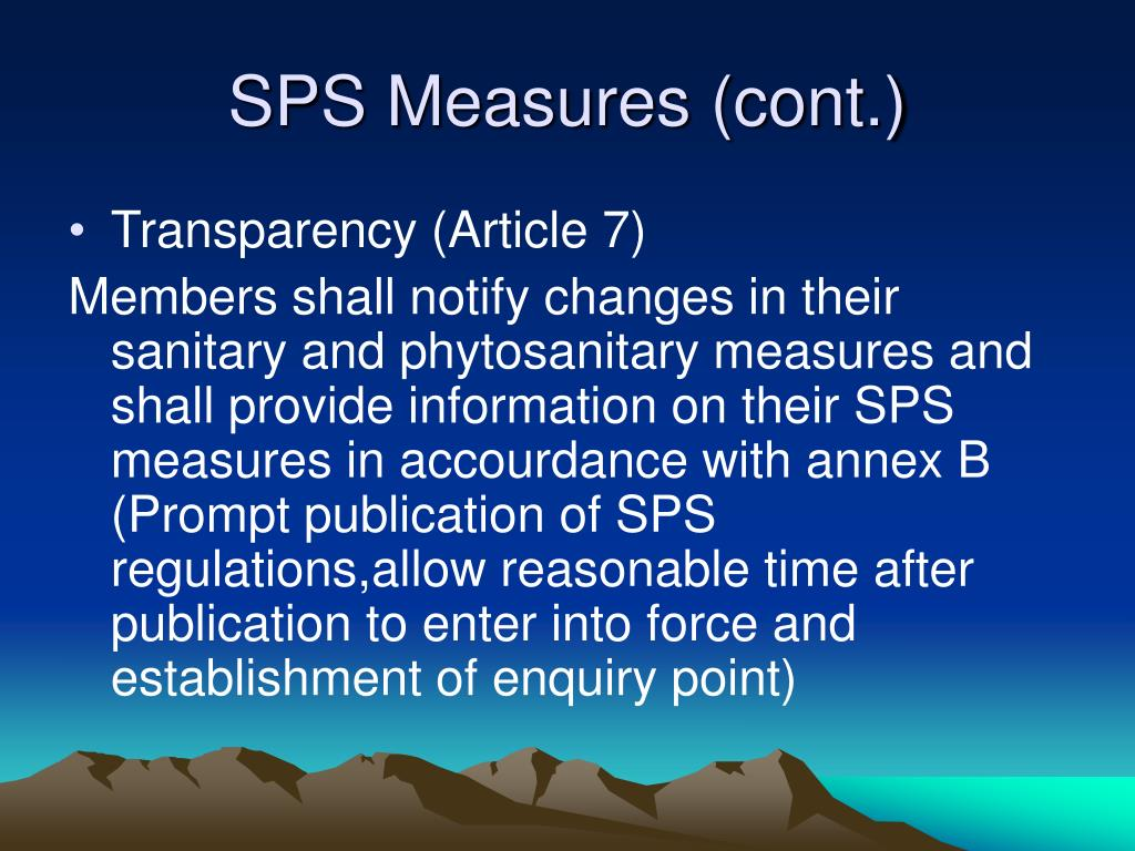 SPS Measures (cont.)