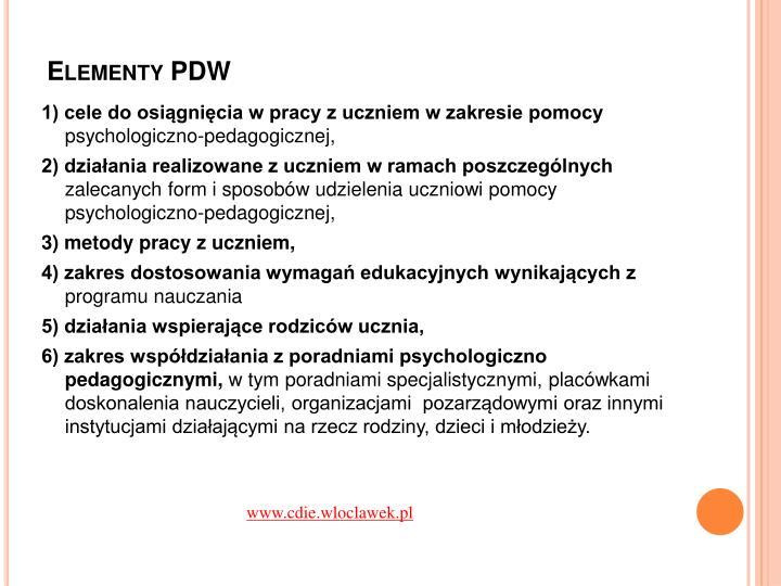 Elementy PDW