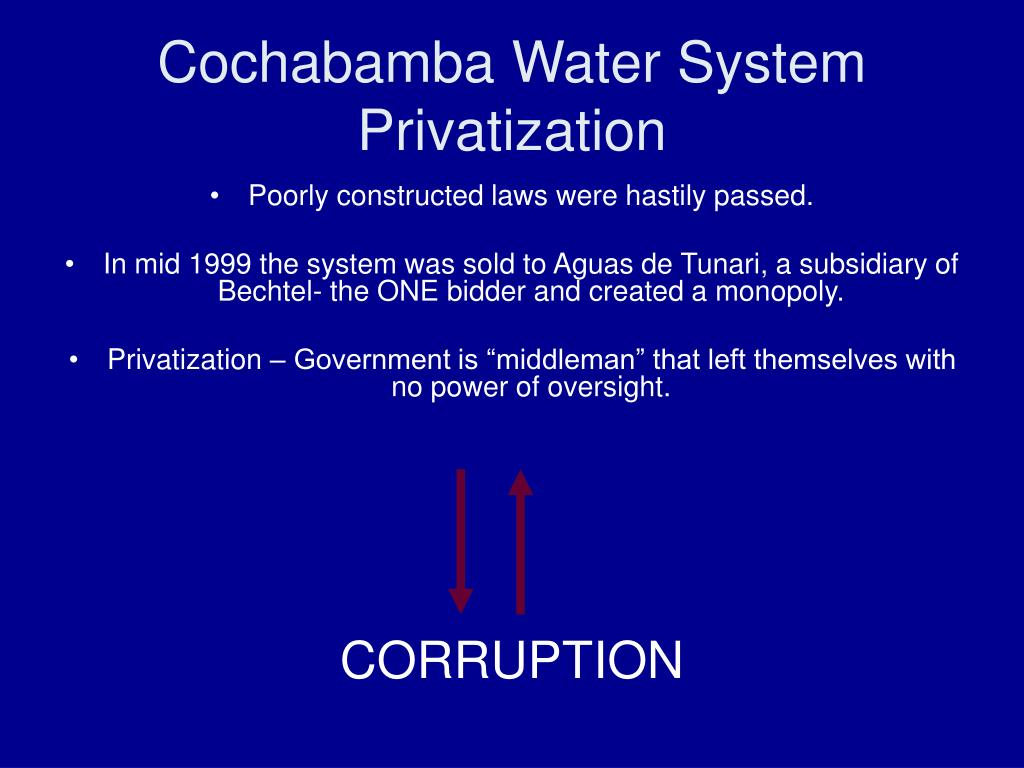 Cochabamba Water System Privatization