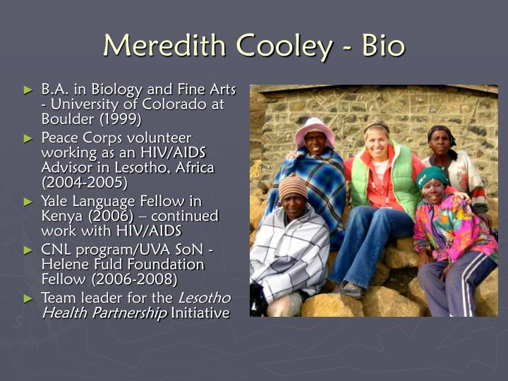 Meredith cooley bio