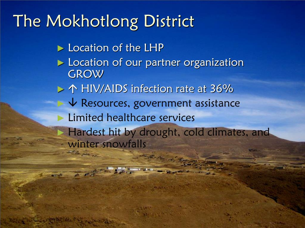 The Mokhotlong District