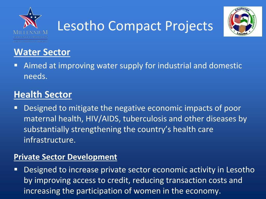 Lesotho Compact Projects