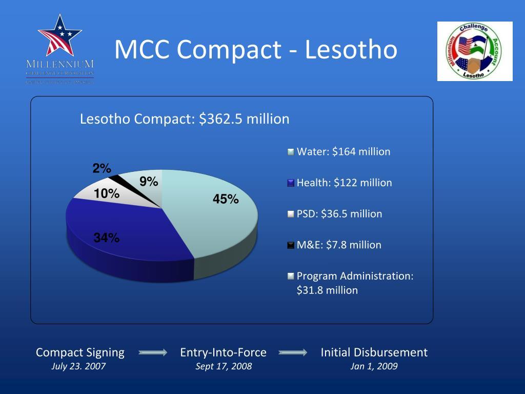 MCC Compact - Lesotho
