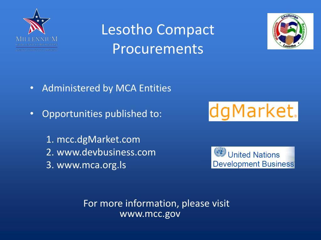 Lesotho Compact