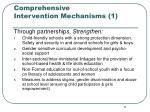 comprehensive intervention mechanisms 1