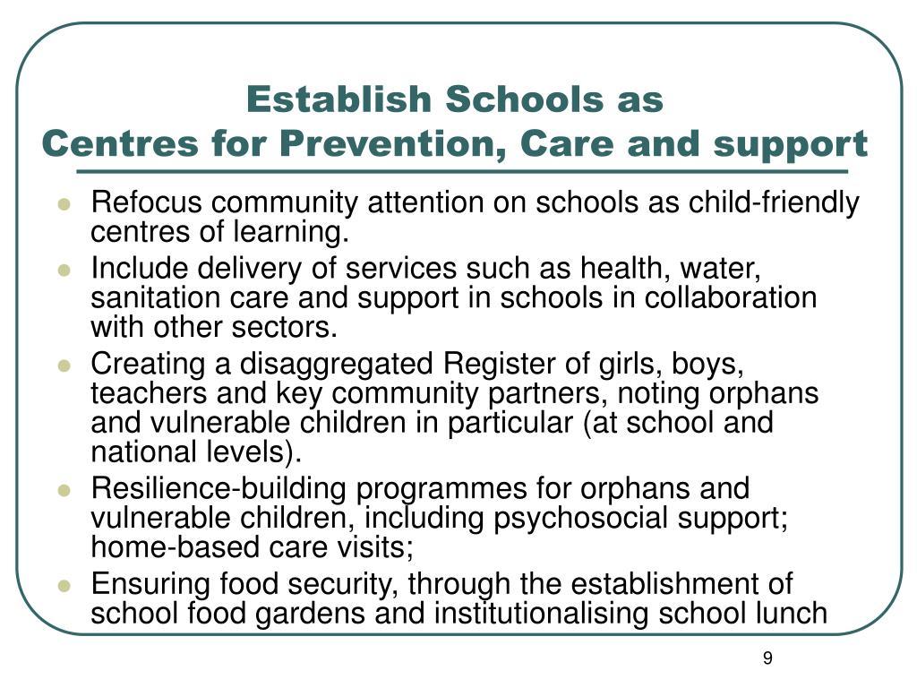 Establish Schools as