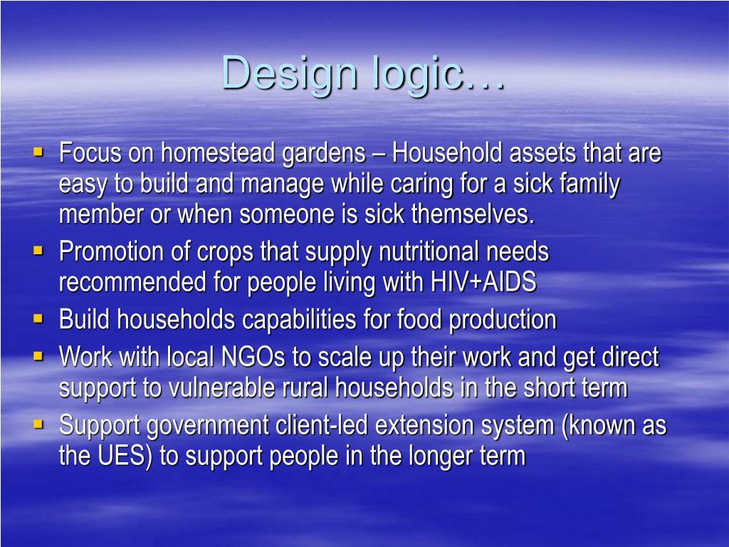 Design logic…