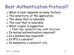 best authentication protocol