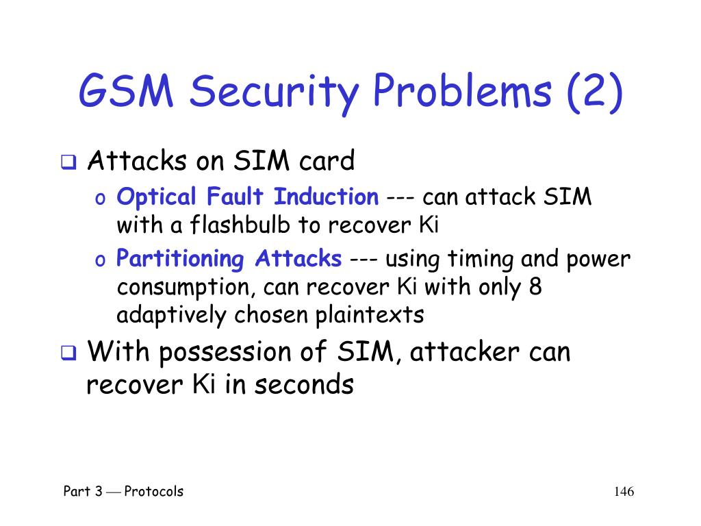 GSM Security Problems (2)