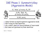 ike phase 1 symmetrickey aggressive mode