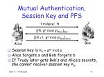 mutual authentication session key and pfs