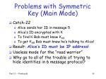 problems with symmetric key main mode