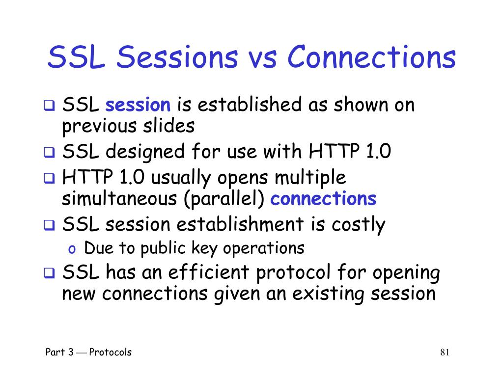 SSL Sessions vs Connections