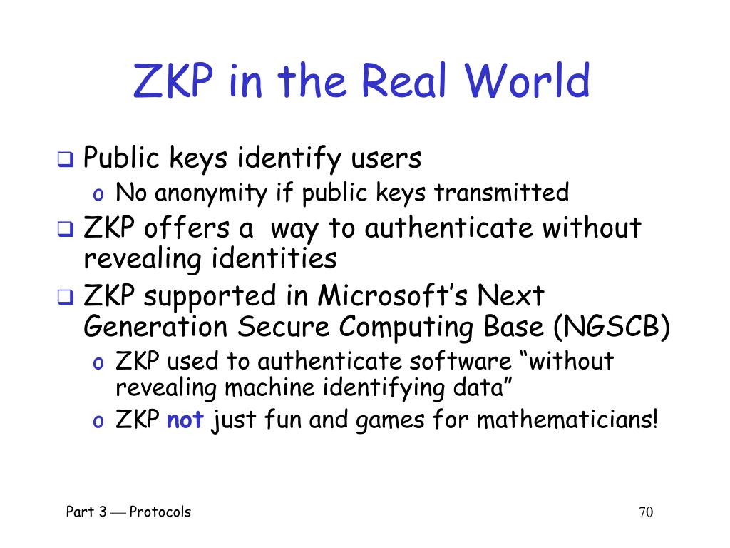 ZKP in the Real World