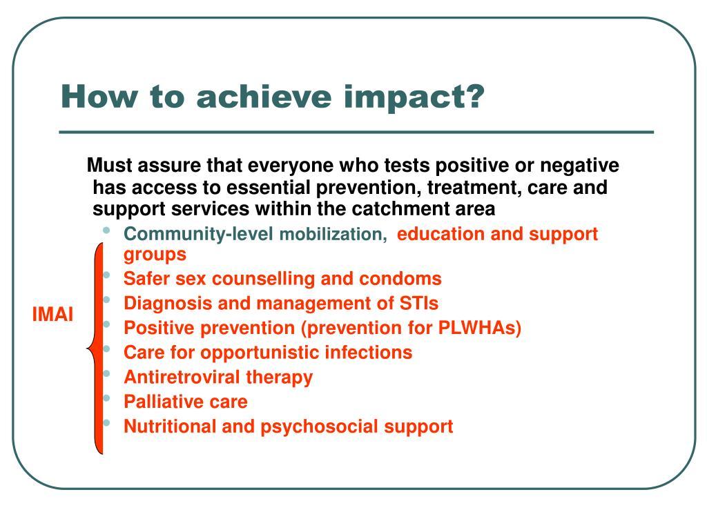 How to achieve impact?
