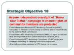 strategic objective 10
