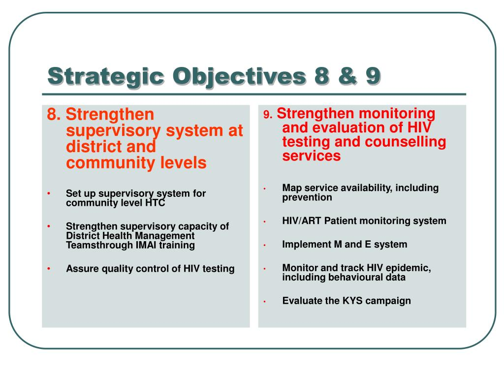 8. Strengthen supervisory system at district and community levels