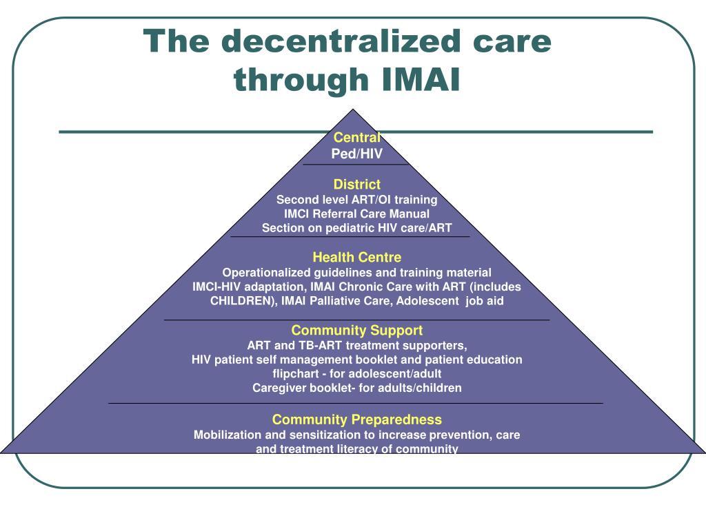 The decentralized care through IMAI
