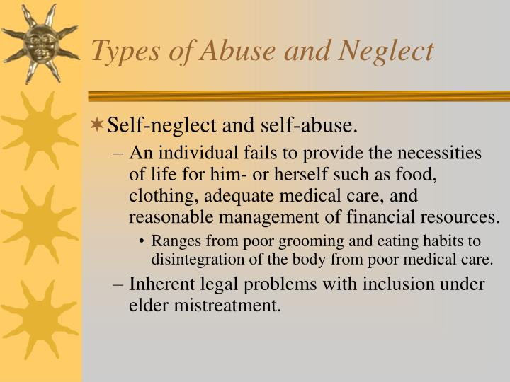 Types of Abuse and Neglect
