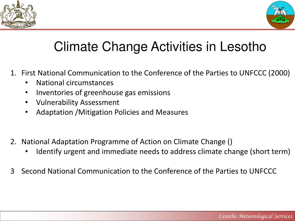 Climate Change Activities in Lesotho