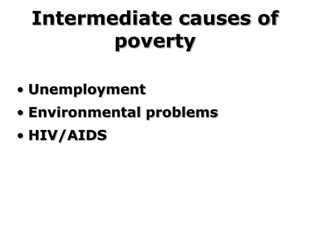 Intermediate causes of poverty