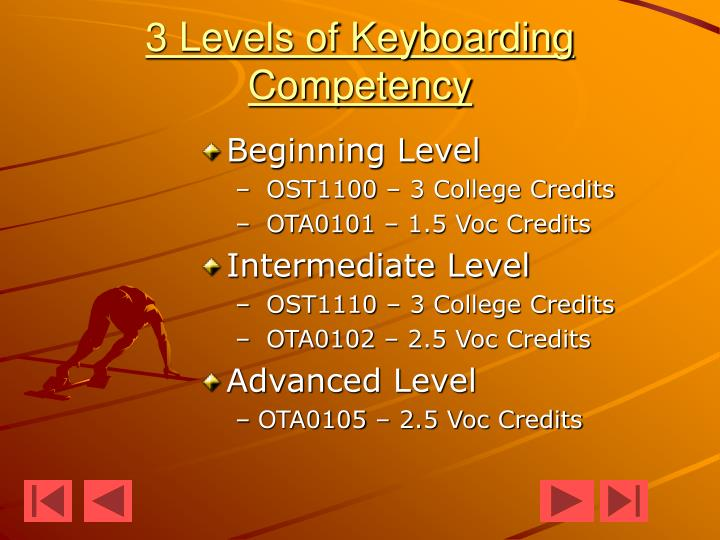 3 Levels of Keyboarding Competency