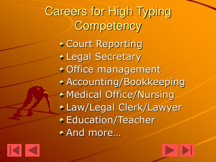 Careers for High Typing Competency
