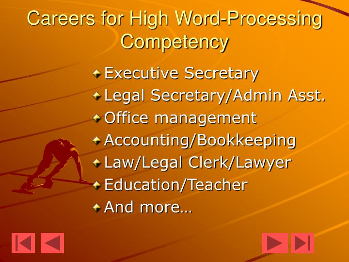 Careers for High Word-Processing Competency