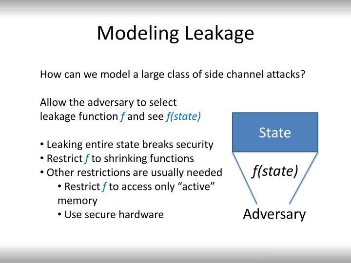 Modeling Leakage