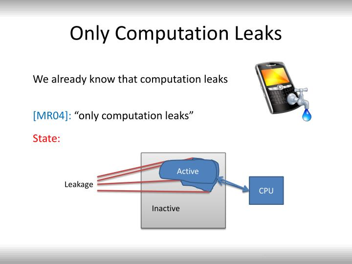 Only Computation Leaks