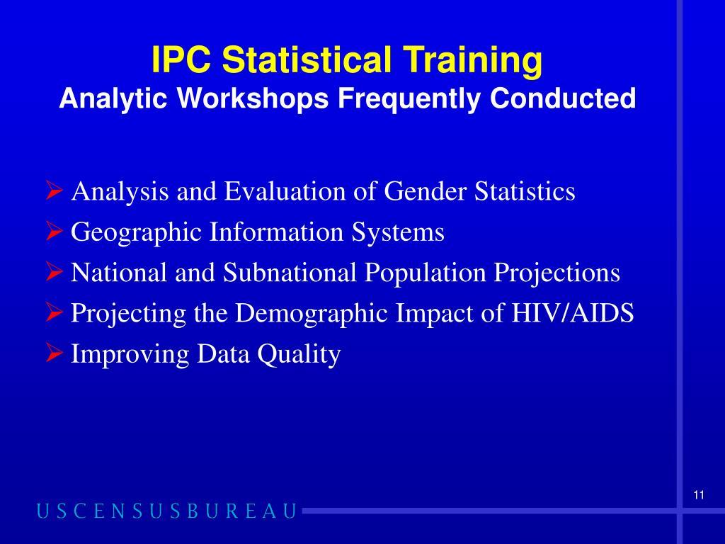 IPC Statistical Training