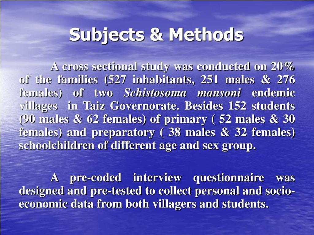 Subjects & Methods