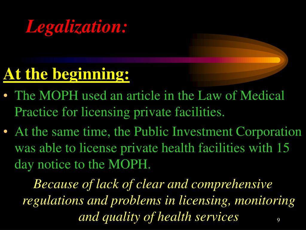 Legalization: