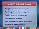 combating corruption business challenges rewards