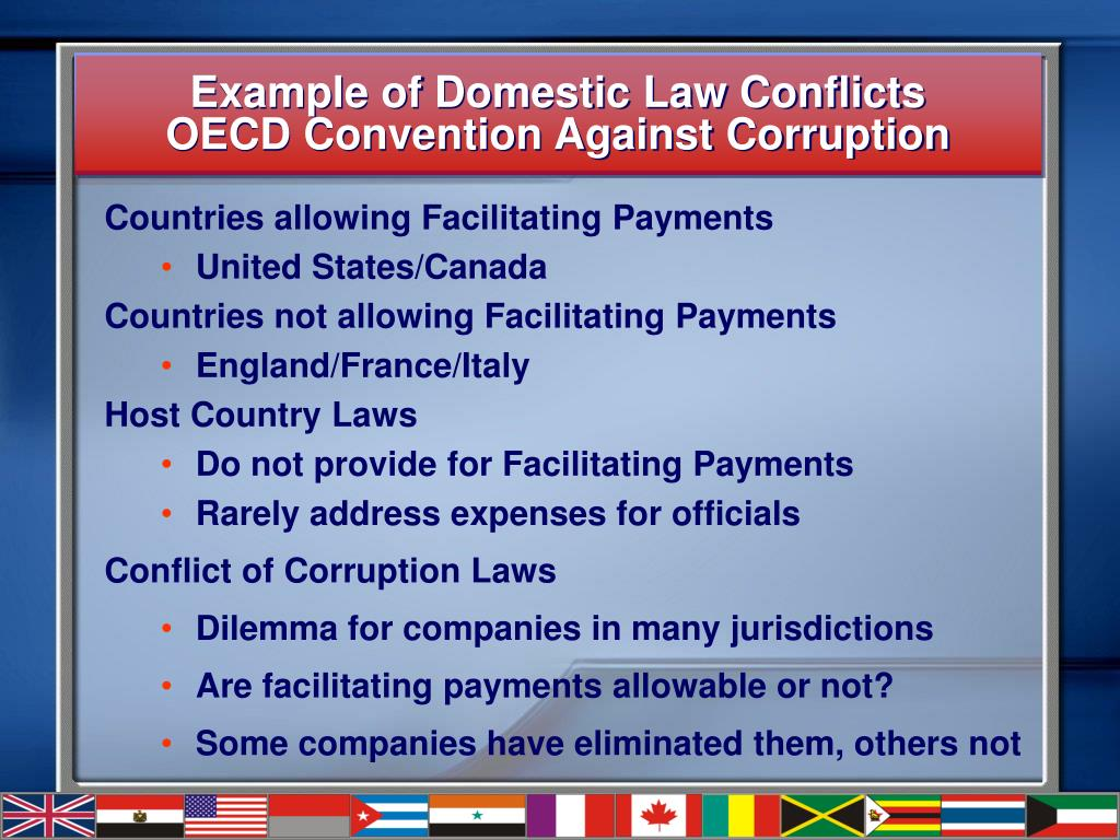 Example of Domestic Law Conflicts
