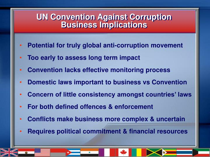 Un convention against corruption business implications