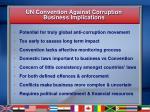 un convention against corruption business implications