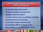 un convention against corruption business response