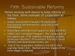 fifth sustainable reforms
