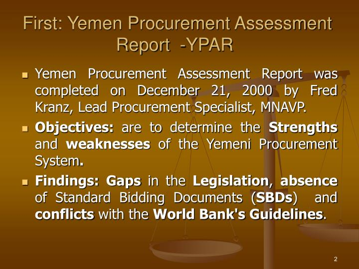First yemen procurement assessment report ypar l.jpg