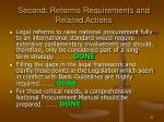 second reforms requirements and related actions