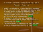 second reforms requirements and related actions28