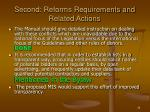 second reforms requirements and related actions30