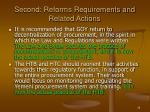second reforms requirements and related actions35