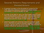 second reforms requirements and related actions36