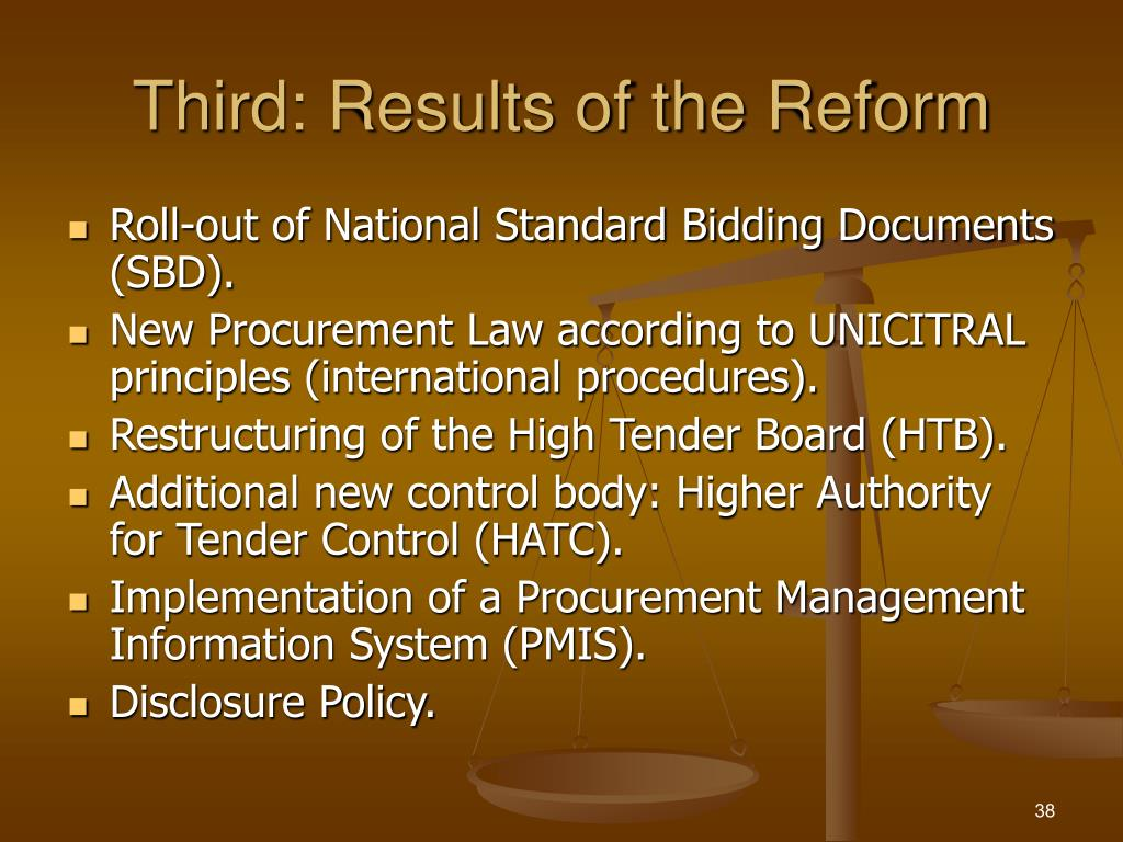 Third: Results of the Reform