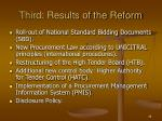 third results of the reform